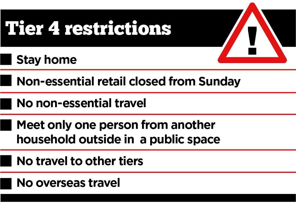 Stick to tier 4 restrictions, police urge