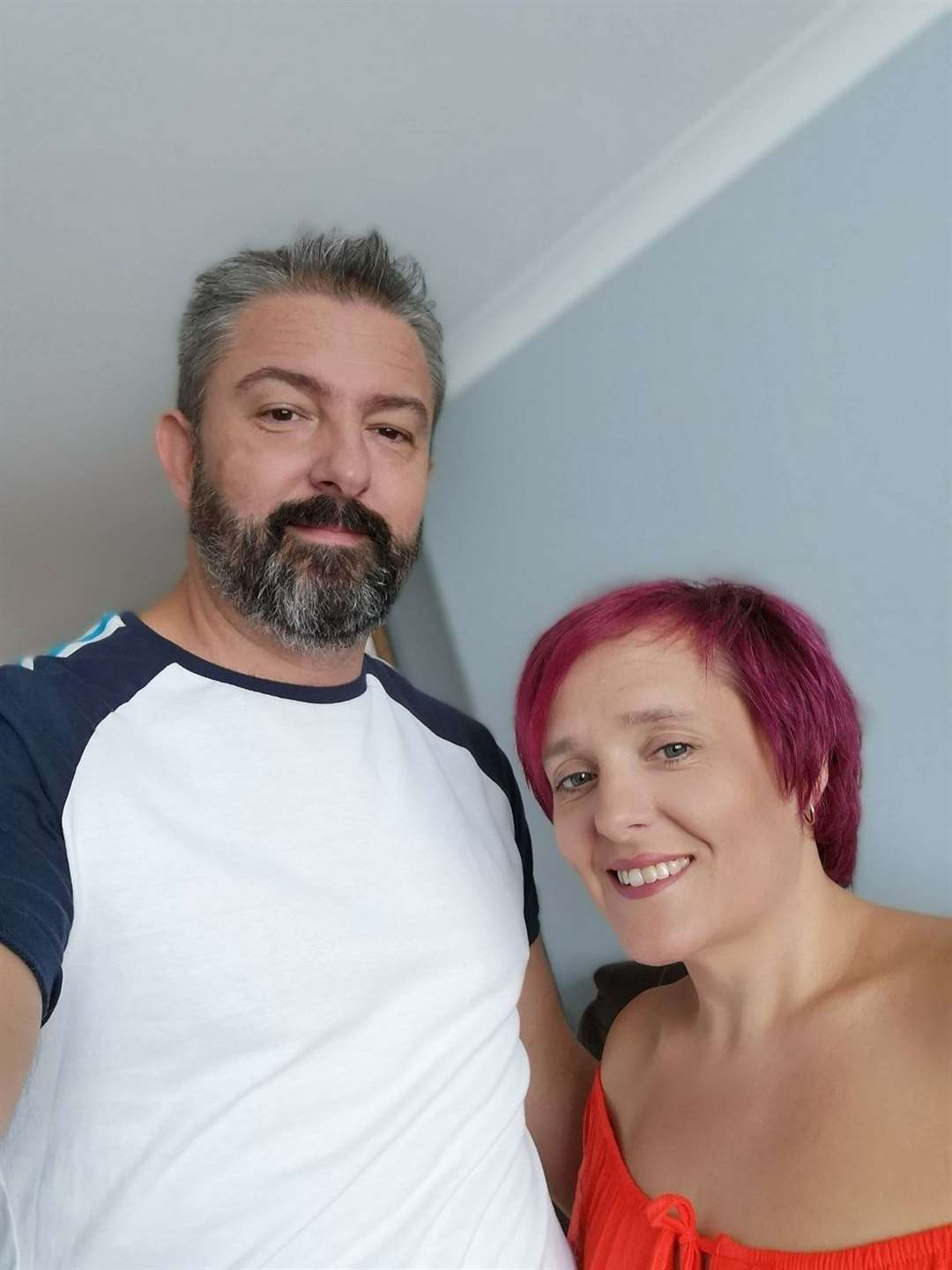 Tony and Collette Morris – Collette was cared for in the St Clare Hospice inpatient unit for ten days at the start of Covid lockdown (42491456)