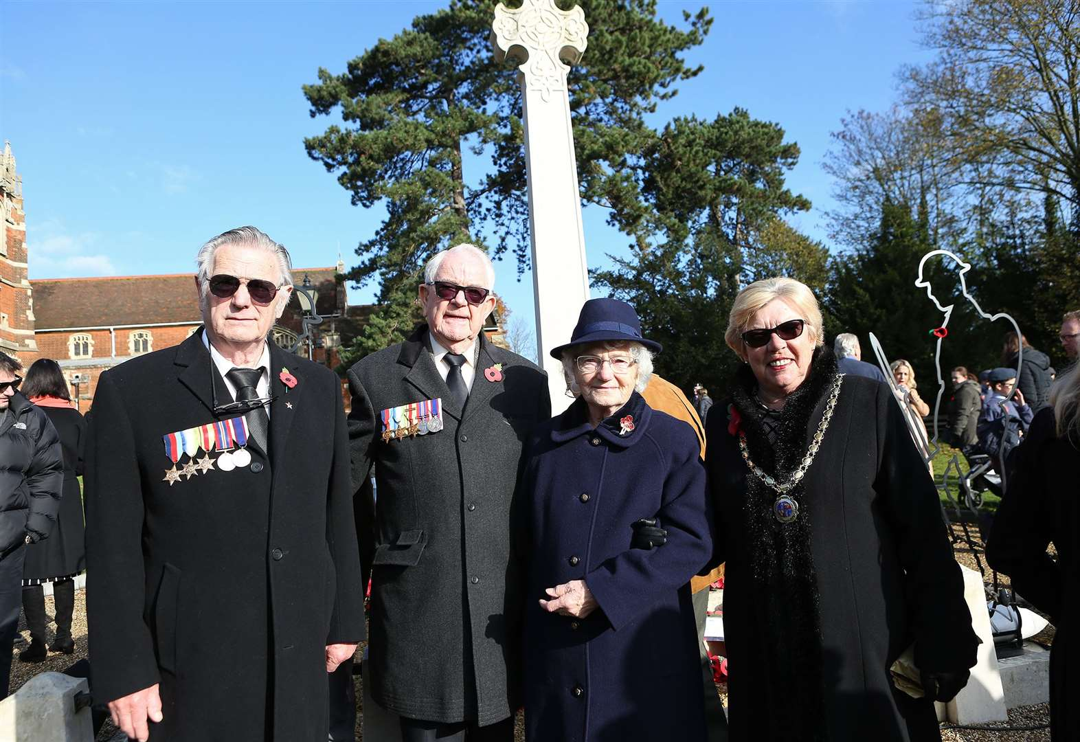 Stansted remembrance picture gallery: Siblings reunite to honour father Herbert