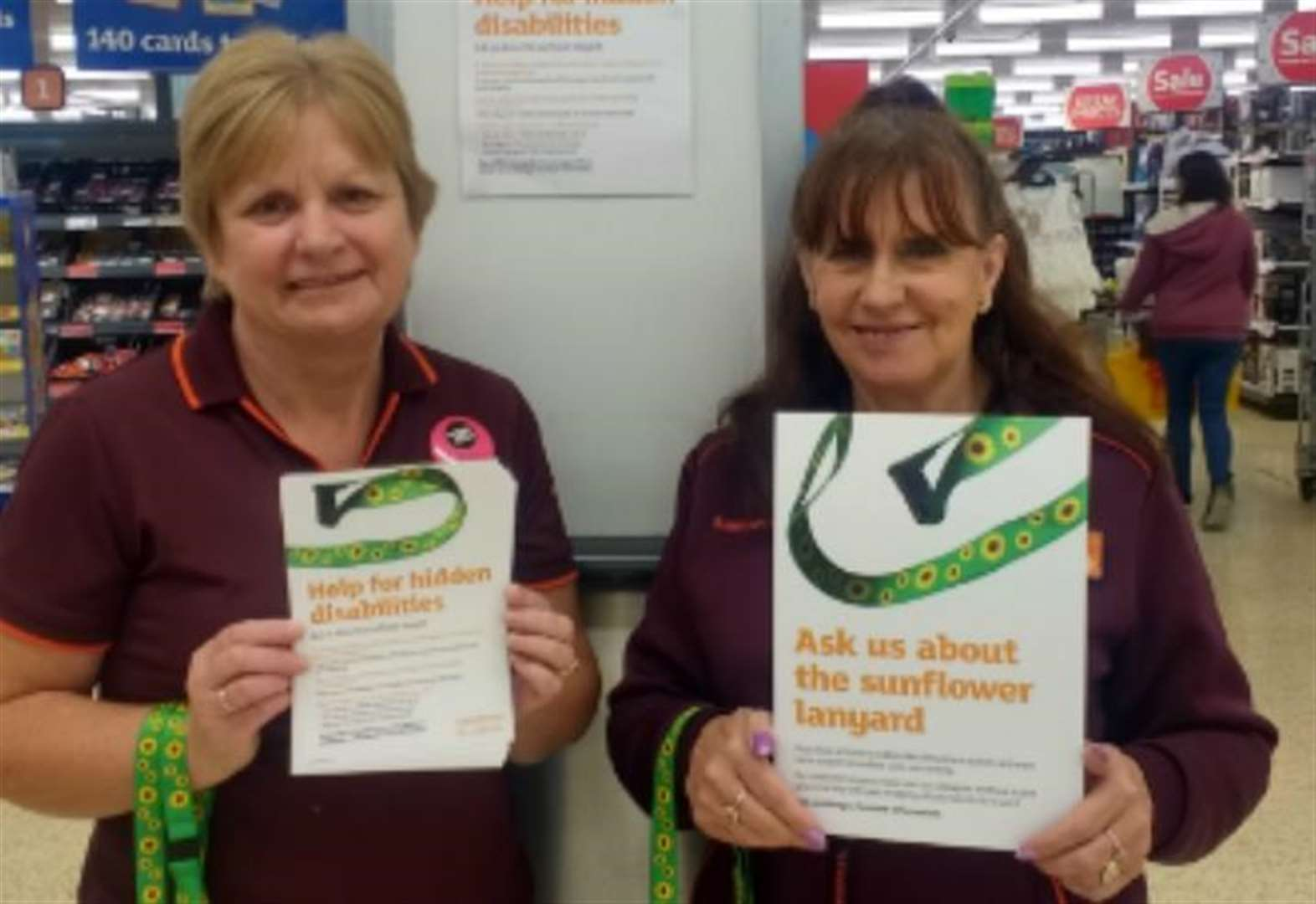 Helping hand for disabled customers from supermarket