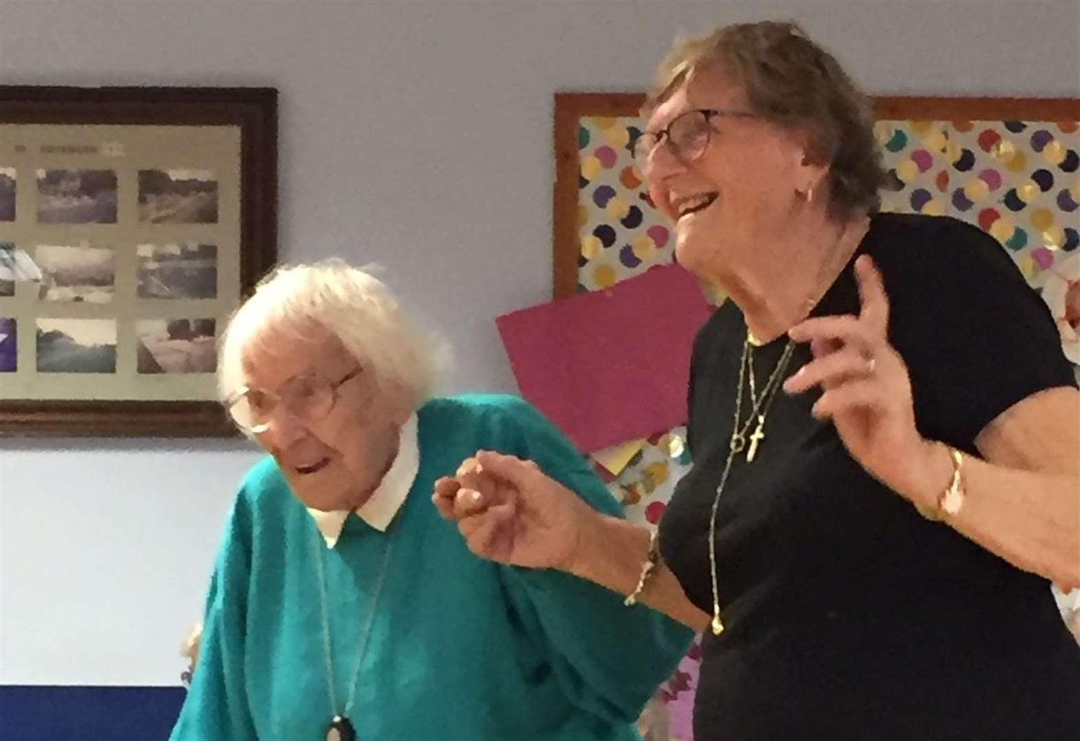 Music lover Joan dances to the beat on her 101st birthday