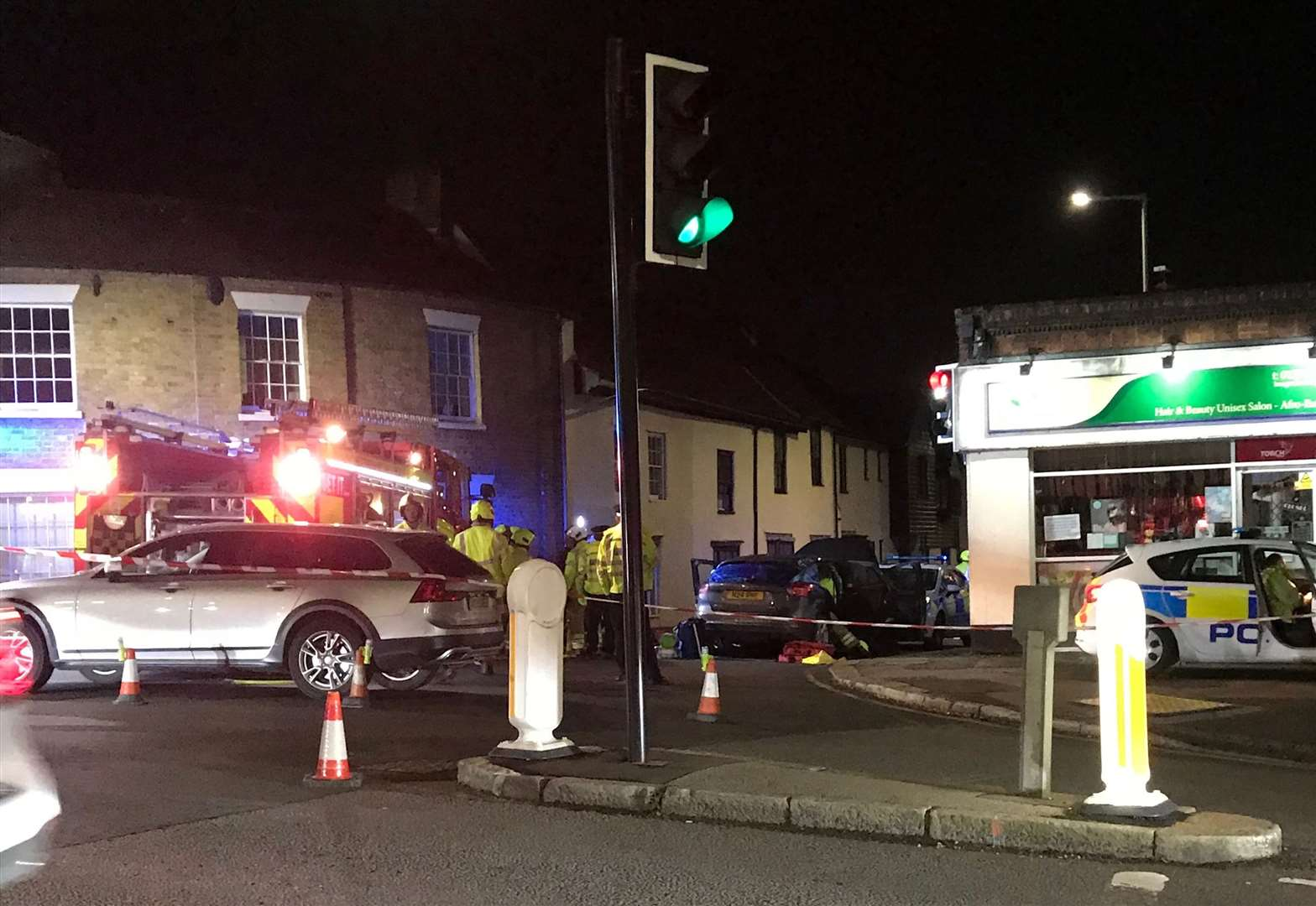 Hockerill collision: Woman injured and London Road closed