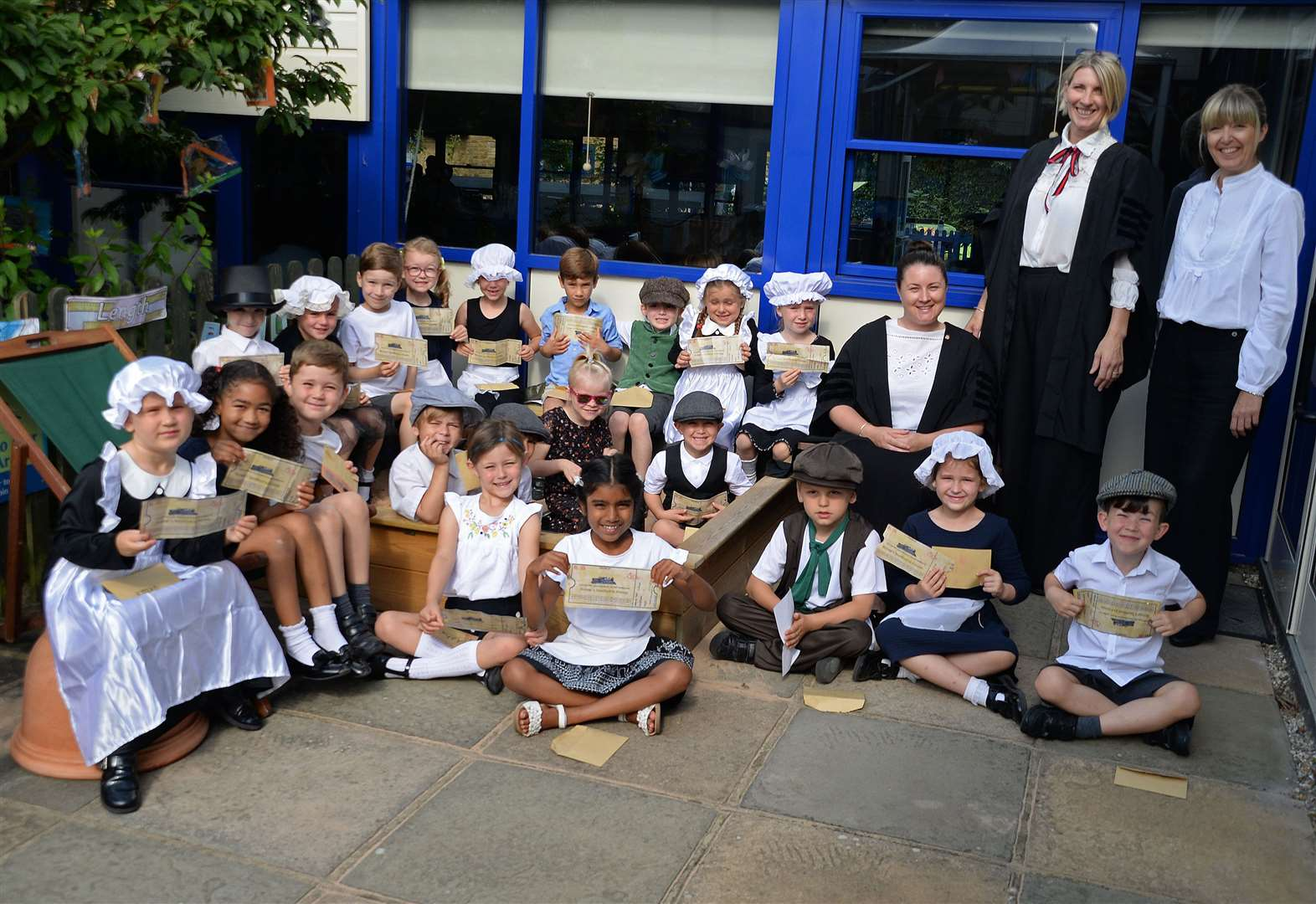All Saints pupils enjoy a Victorian day at the beach