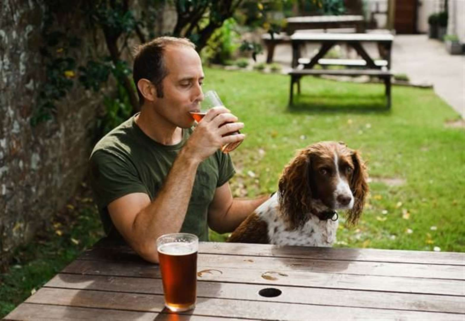 Dog owners can get their paws on a free drink at Spellbrook pub
