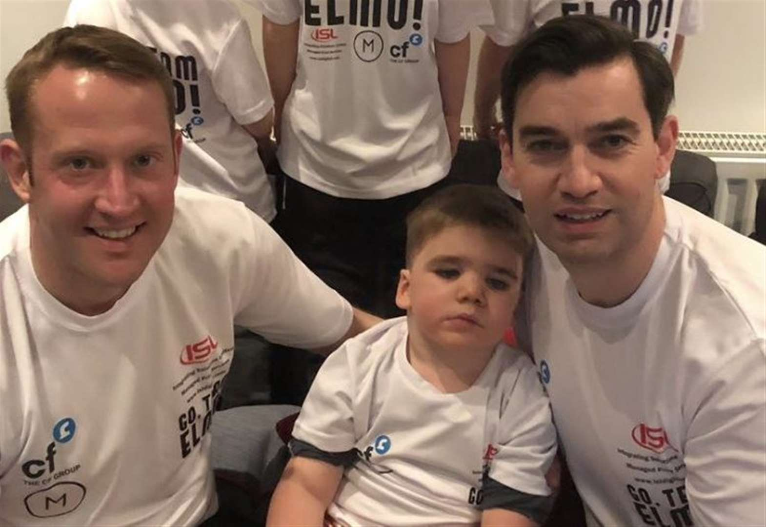 Keith and Grant run from London to Paris to raise cash for Go, Team Elmo!