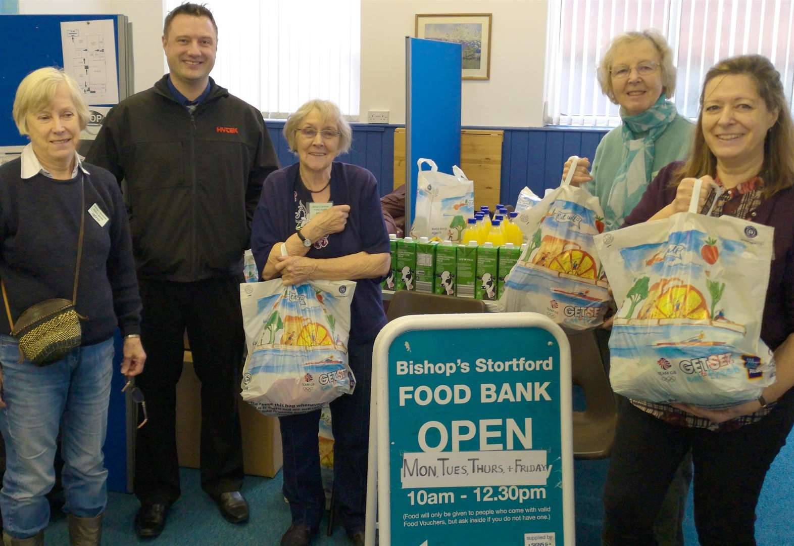 Festive boost for town's food bank