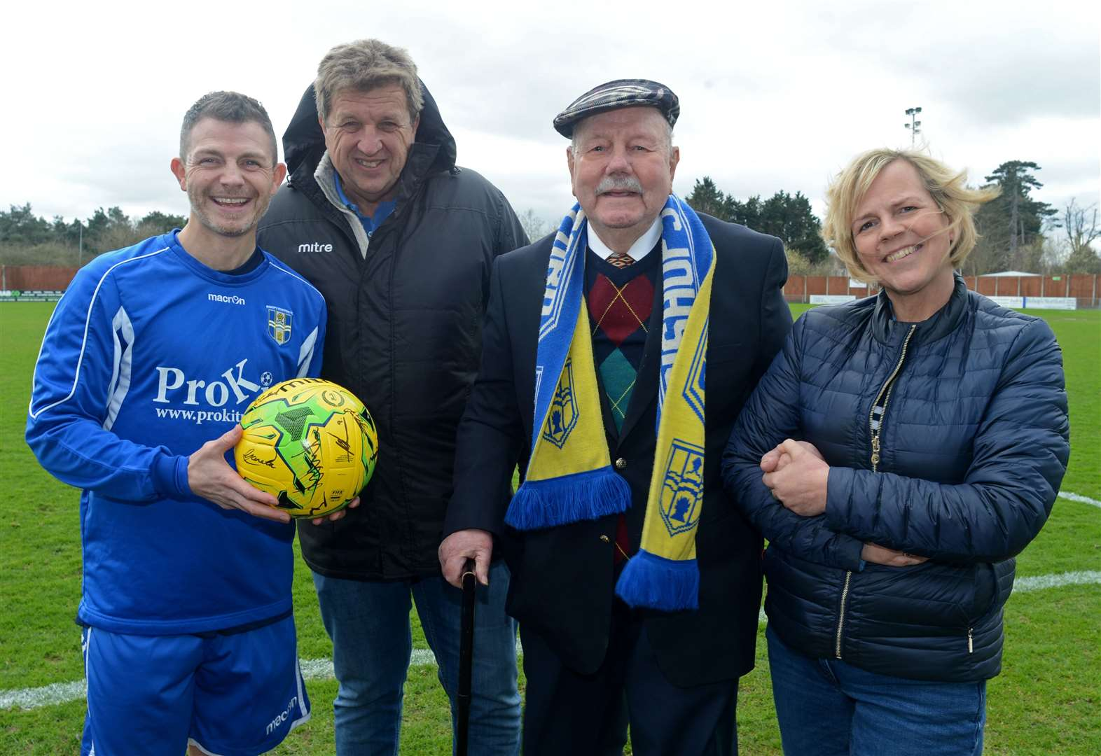 Supporter Roy gets the star treatment on 90th birthday