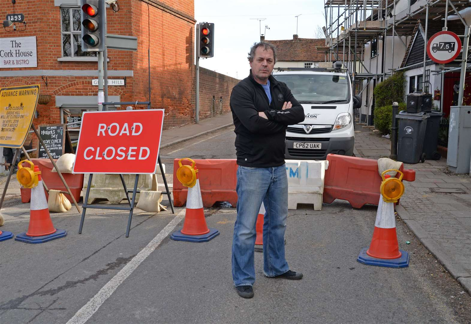Stansted road shut for repairs to 400-year-old house hit by wide load