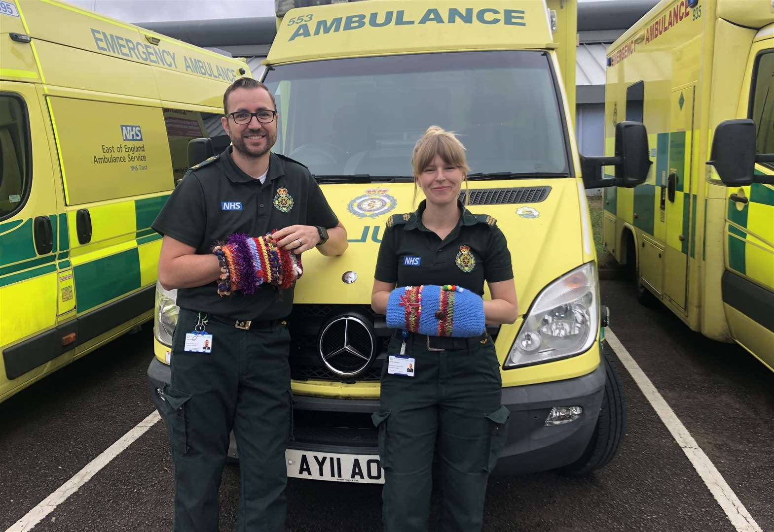 Could you knit a TwiddleMuff and help ambulance patients with dementia?