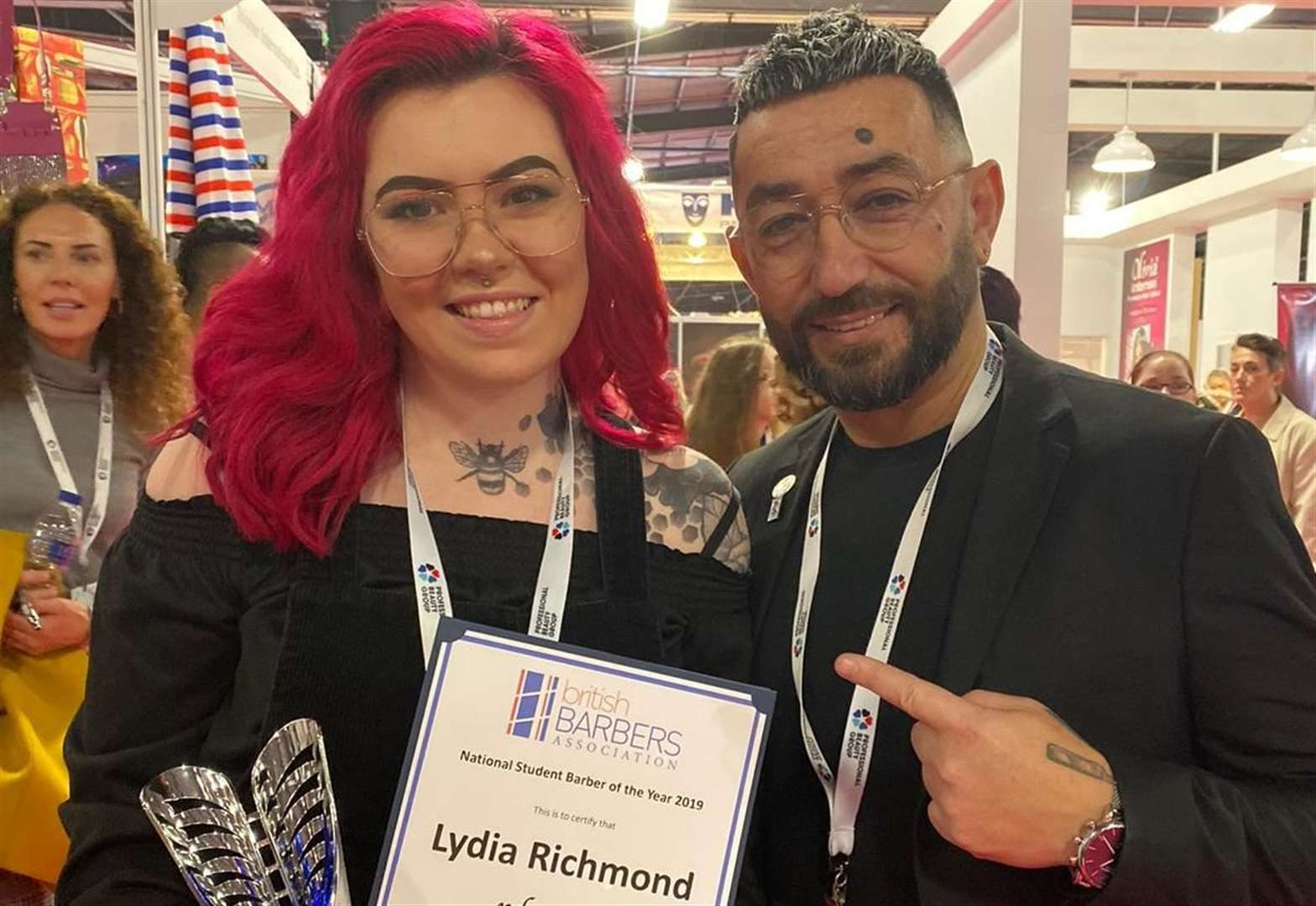 Barber Lydia already a cut above with national recognition