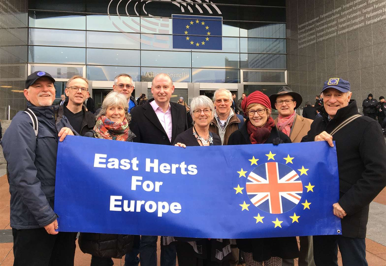 Stortford Remainers' day trip to Brussels to mark final days of EU citizenship