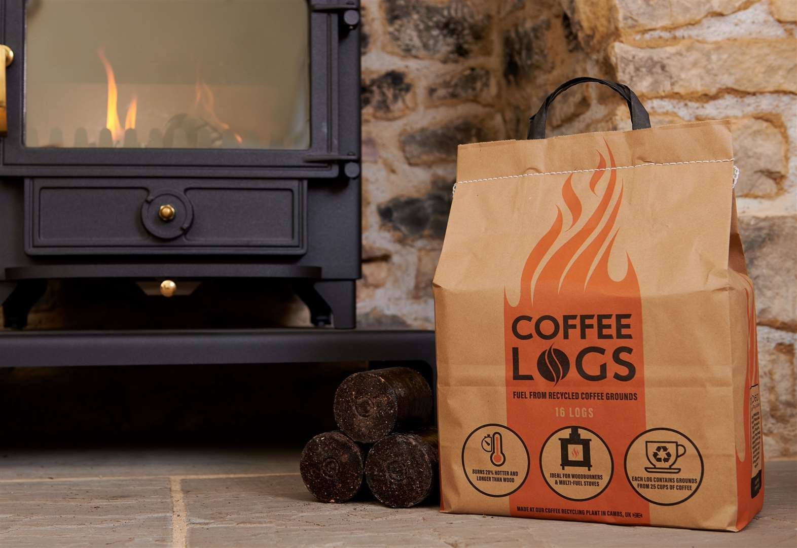 Cool beans! Initiative converting Stansted's waste coffee into logs is grounds for optimism