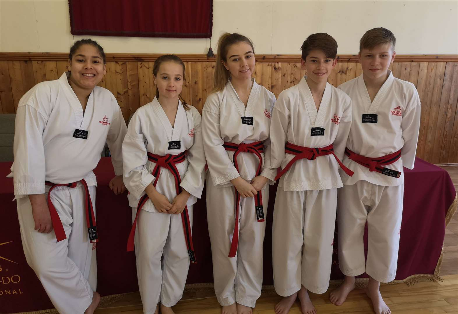 Students pass black belt gradings with flying colours