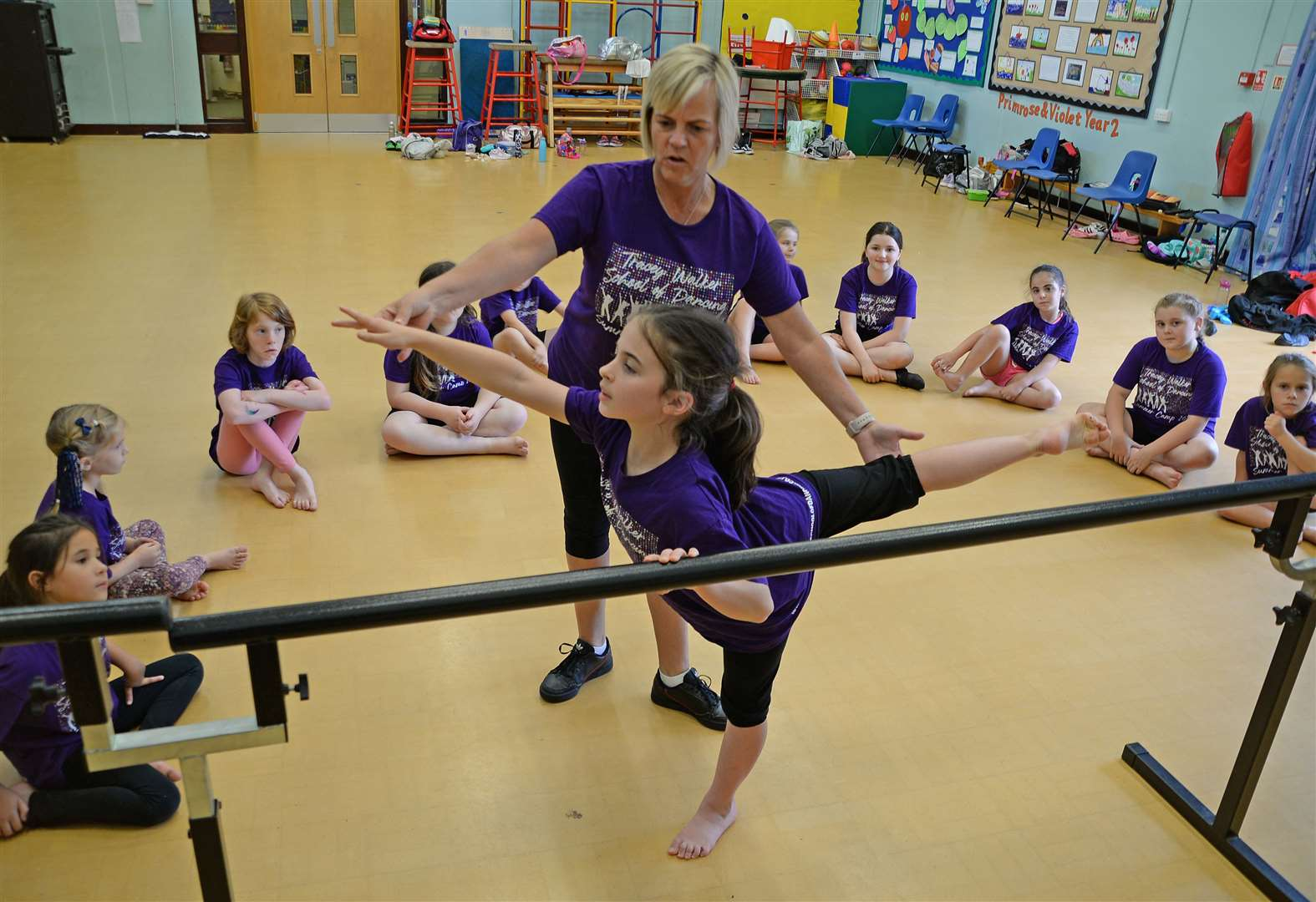 Burgeoning dancers put through their paces at Tracey Walker's summer camp
