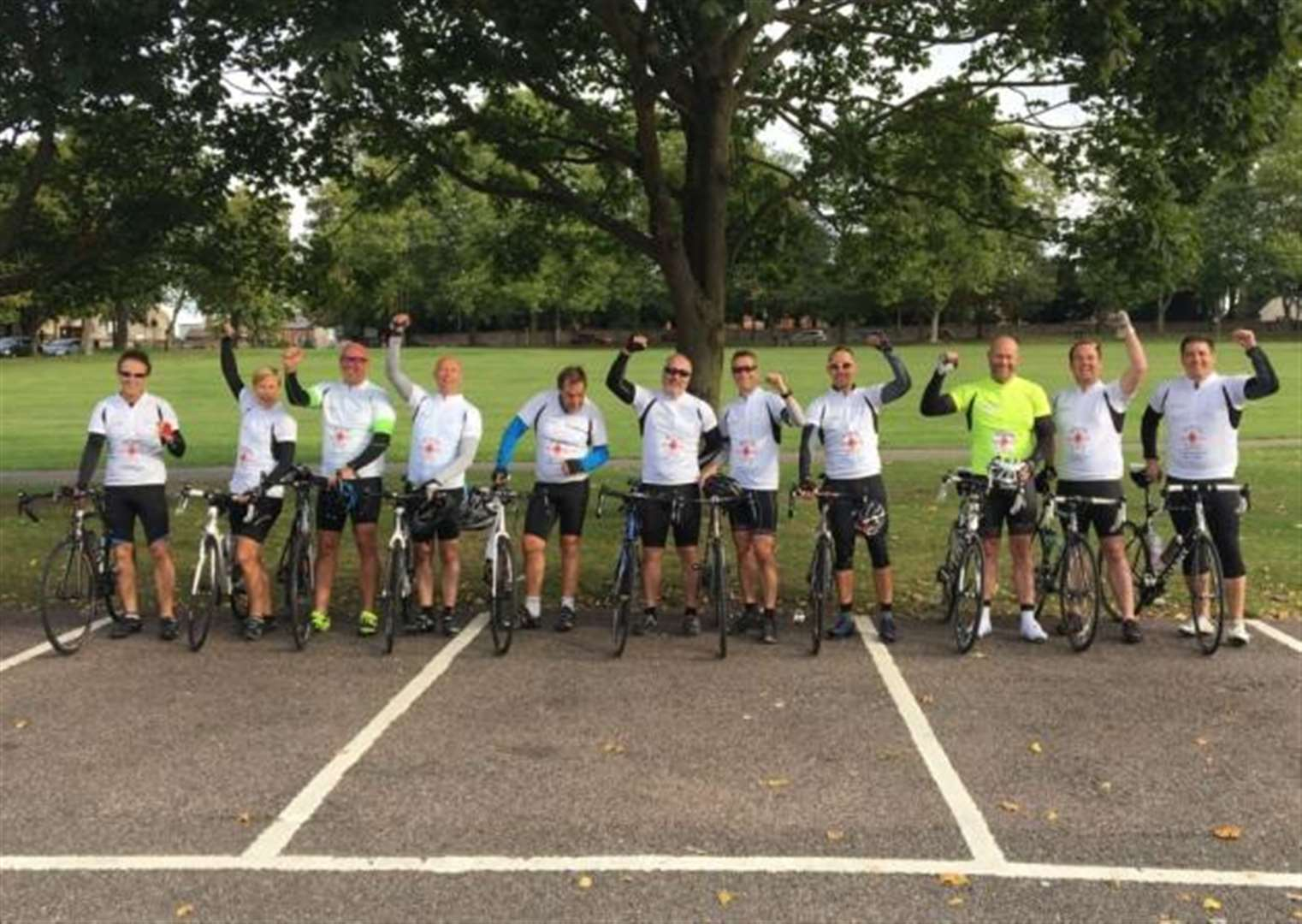 Enable-led team cycle from London to Brussels for Grove Cottage