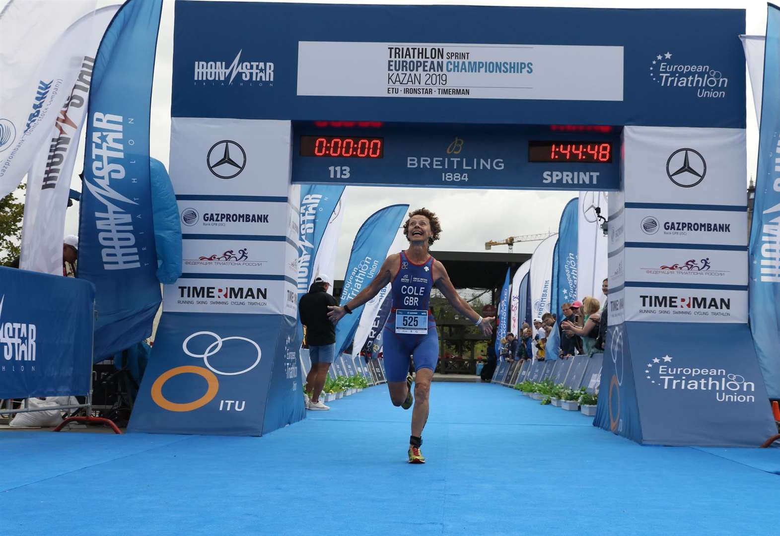 Stortford's 62-year-old European gold medallist urges everyone to give triathlon a try