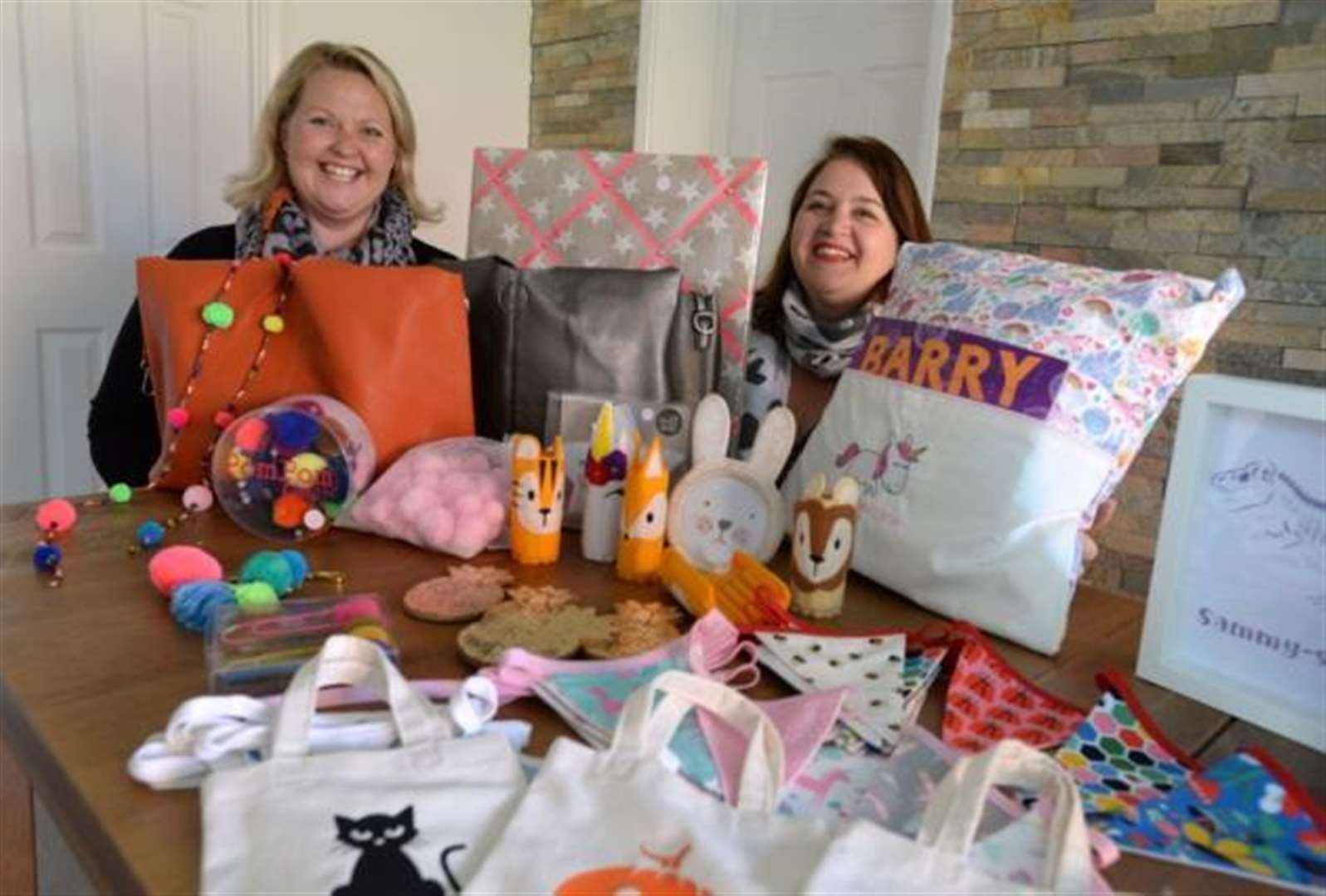 Cheryl and Sally hope to raise £500 for Edie's Butterfly Appeal during Christmas Pop-Up Shop