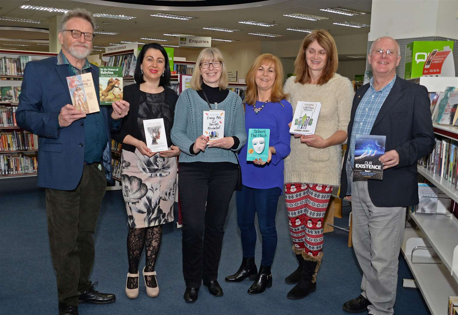 Read all about it! Authors showcase writing at library
