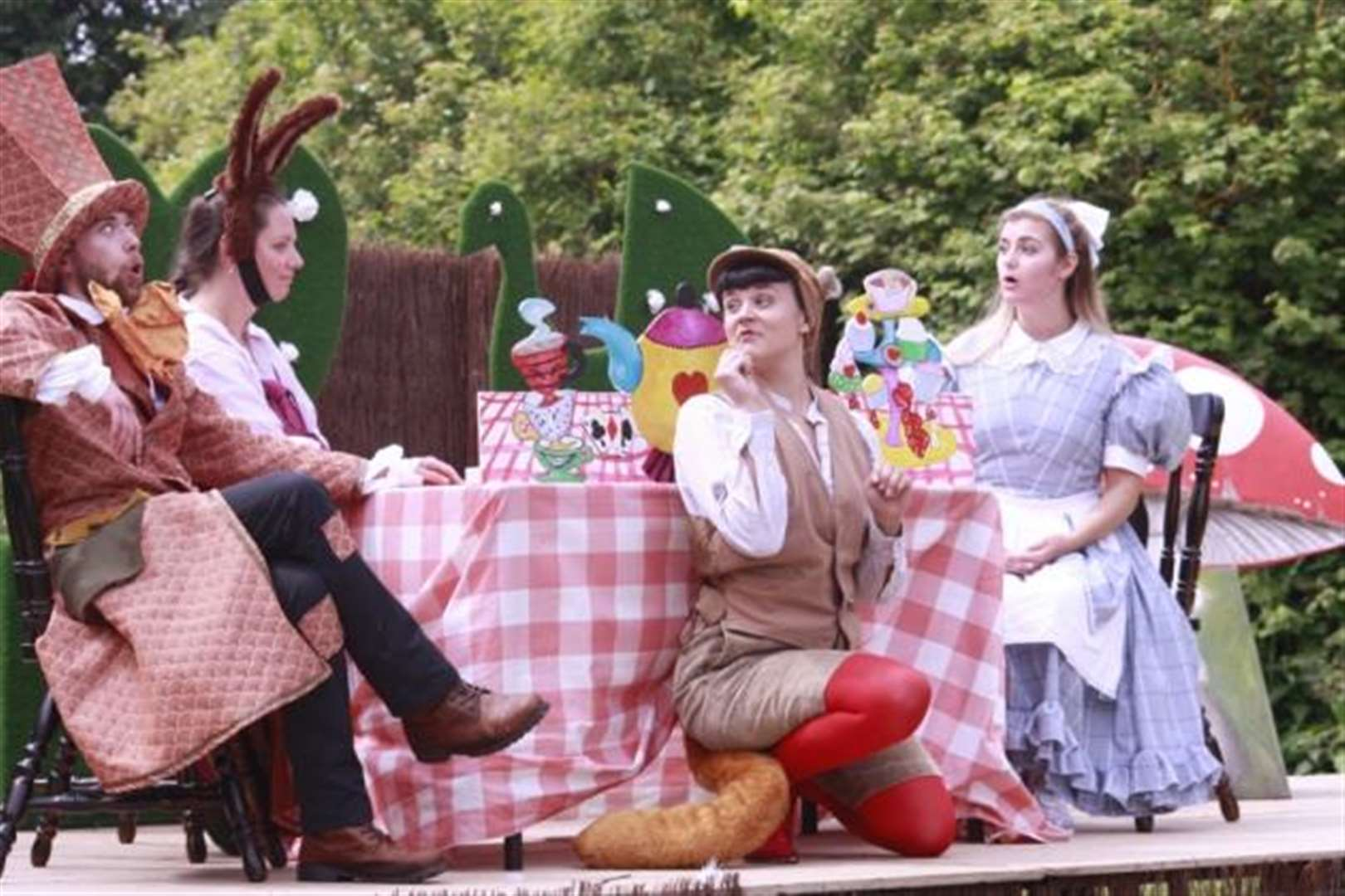 Open-air performance of Alice in Wonderland at Audley End