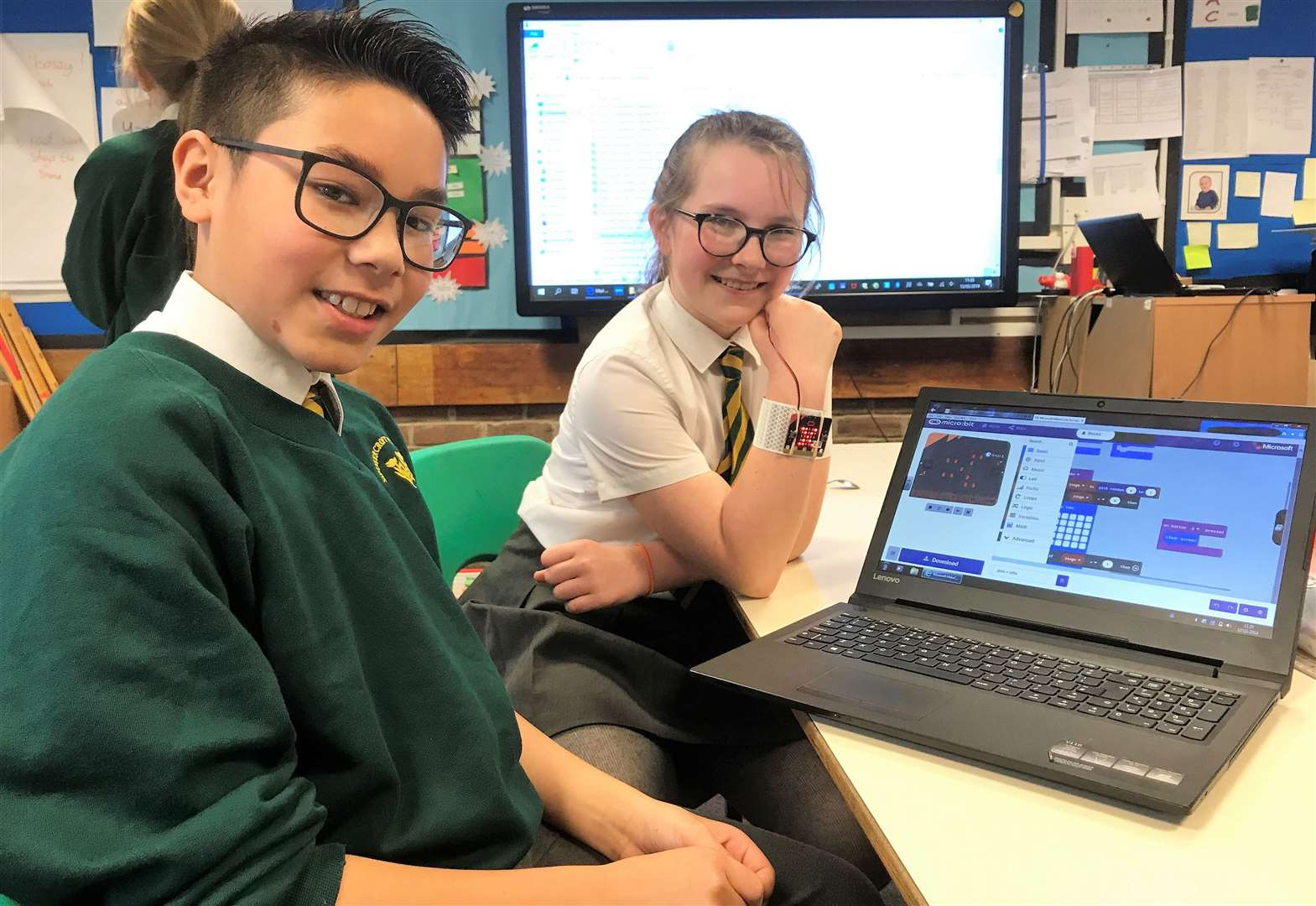 Students at Summercroft get to grips with micro:bits