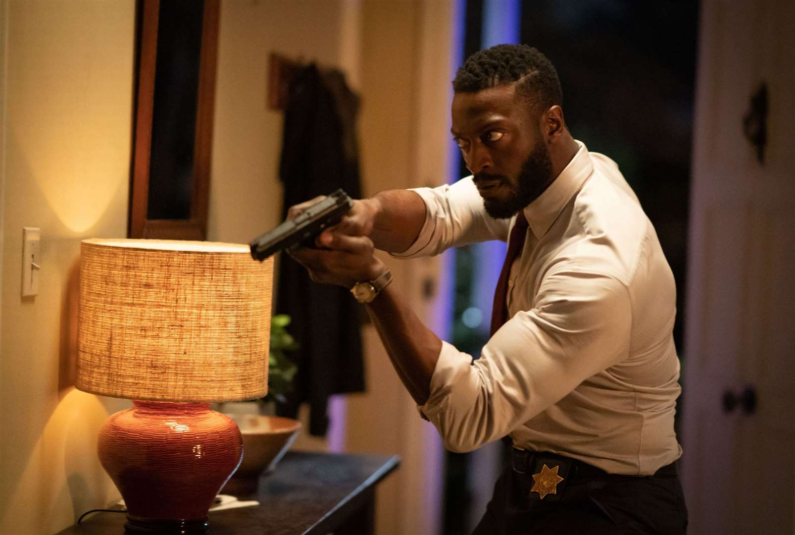 Aldis Hodge as James Lanier in The Invisible Man