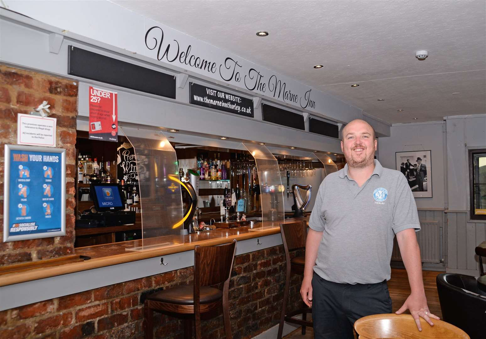 Aaron Fennell looking forward to reopening his Marne Inn pub on Monday. Pic: Vikki Lince. (44677707)