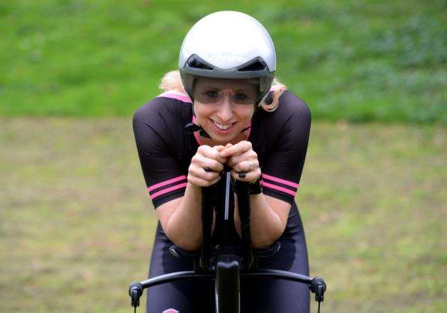 Triathlete Emma Deary - pictured in Trinity Park, Bishops Stortford - is turning pro.Pic: Vikki Lince