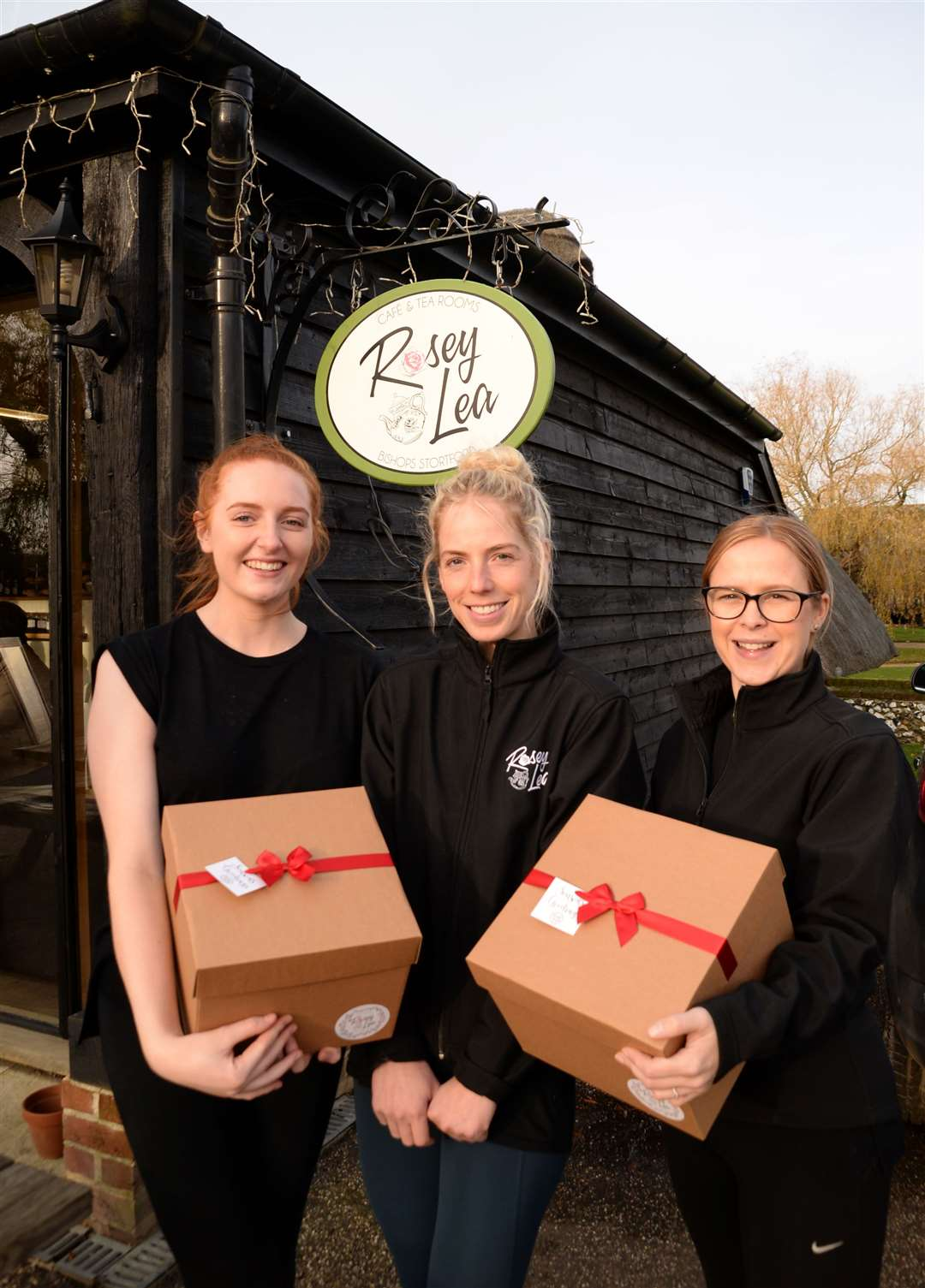 Rosey Lea, Wickham Hall, Bishop's Stortford – Leanne Gregory, centre, with staff members Sadie Yarnold and Erin Wilkinson. Pic: Vikki Lince (22123199)
