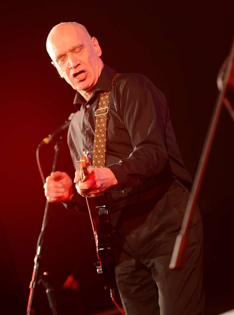 Wilko Johnson performing at the Bish Bash festival in Bishop's Stortford in 2018. Pic: Vikki Lince