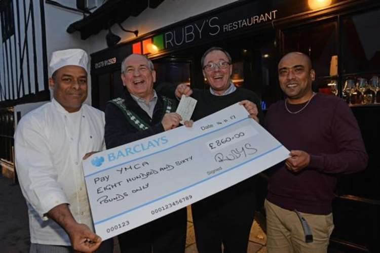 Colin's curry night serves up a donation for the YMCA in Bishop's