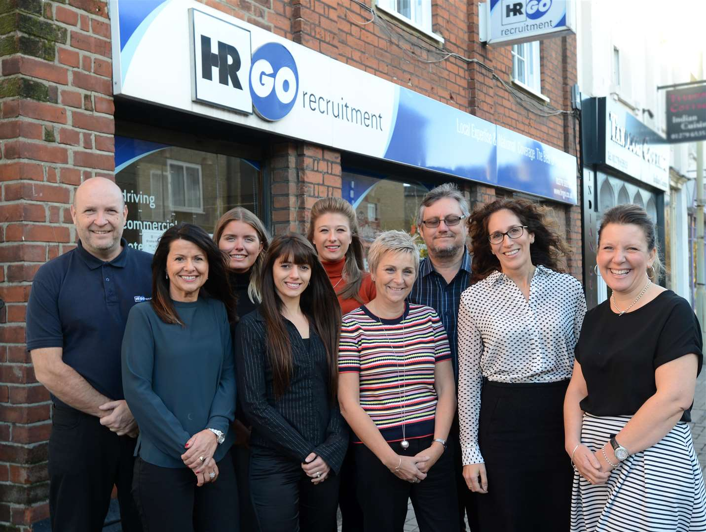 HR GO, Northgate End,Bishops Stortford.The Team at HR GO.l-r: Terry Trundle, Lorraine Button, Molly Curran, Abbey Hare, Laura Baxter, Marie Watts, Kelvin Buick, Tanya Stevens, Kelly Howard. .Pic: Vikki Lince. (5850882)