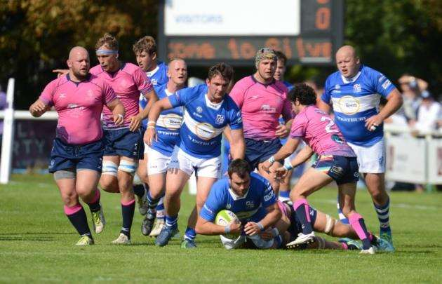 Action from Bishops Stortfords match with Darlington. Pic: Vikki Lince