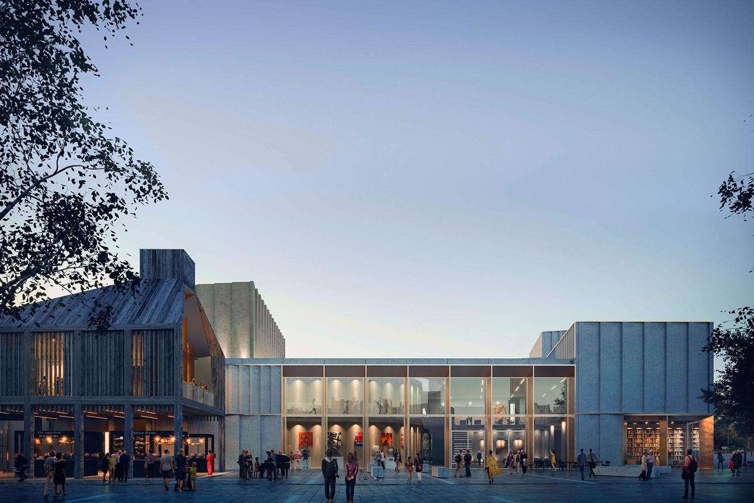 Artist's impression of the arts center at the heart of the Old River Lane project (49365585)