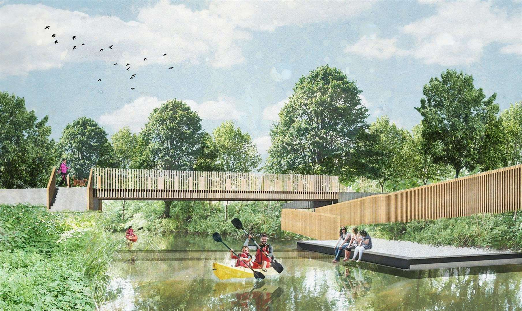 Transformation plans for Castle Park in Bishop's Stortford. (7089123)