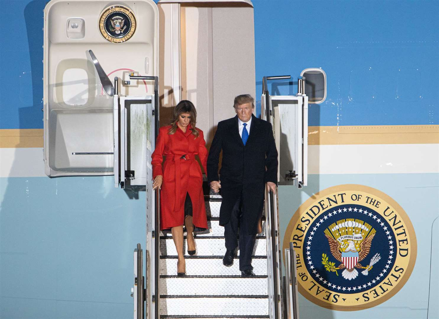 President Trump arrives at Stansted Airport (23235286)