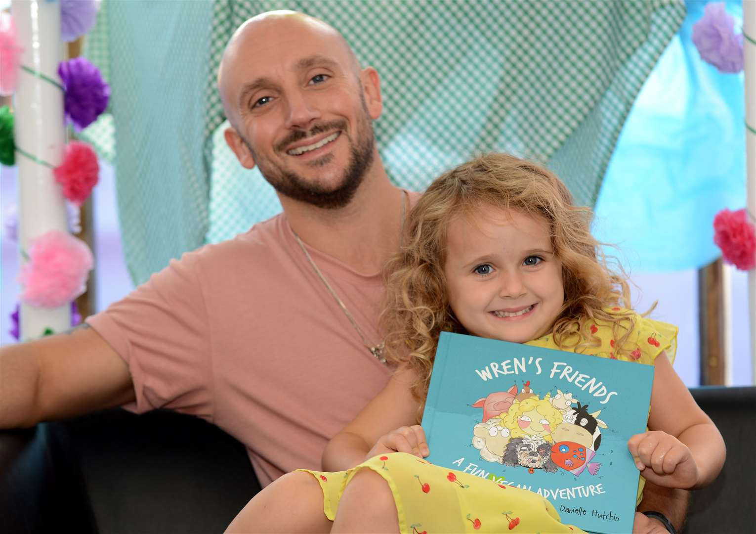 Matt Claydon has written a book about being vegan based on his daughter Wren. Picture: Vikki Lince (15625281)