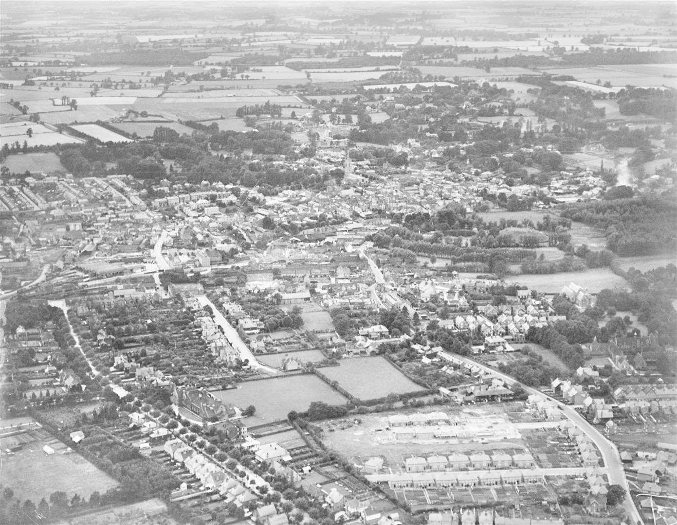 Bishop's Stortford in 1928 Credit: Historic England