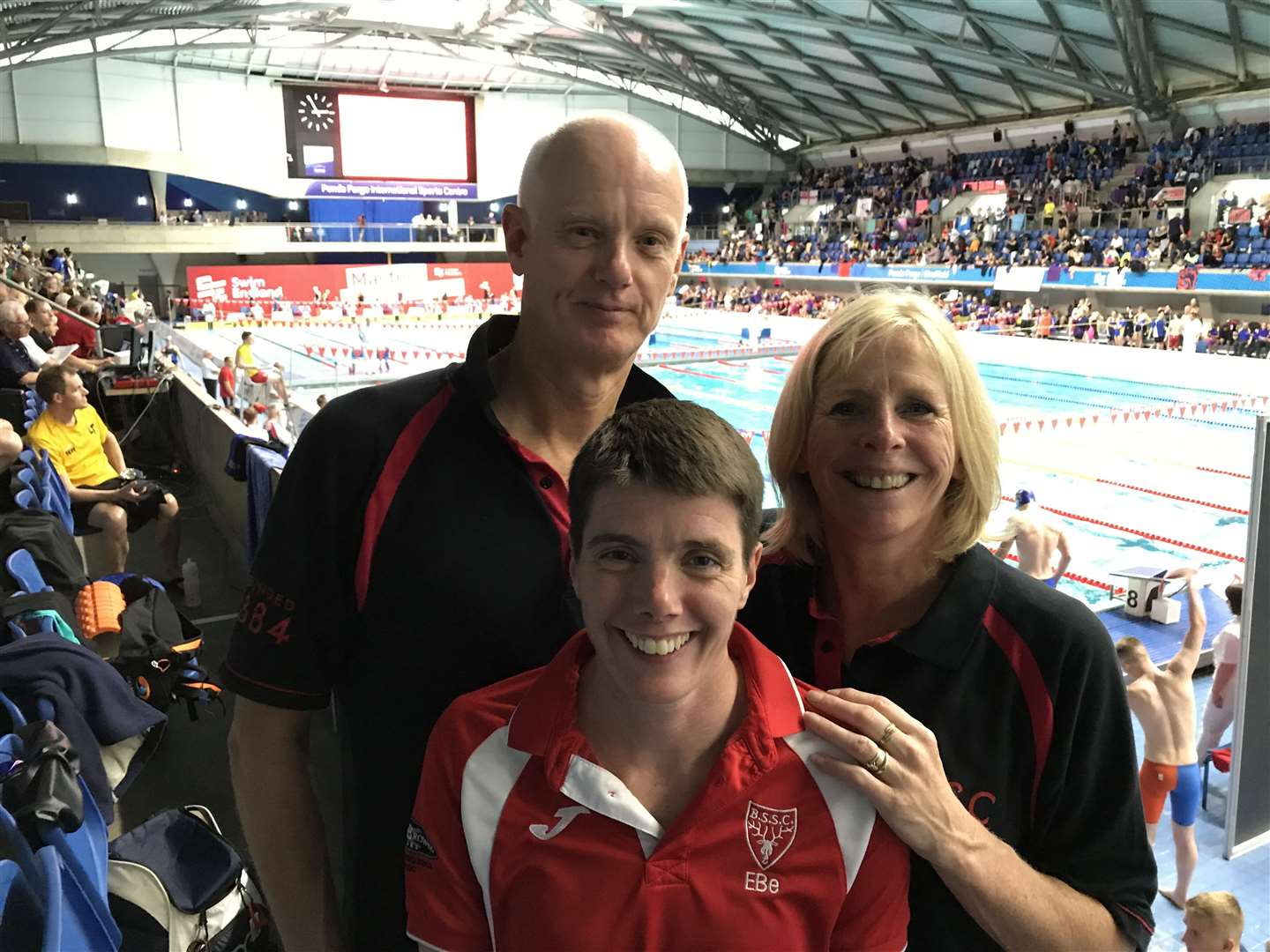 Bishop's Stortford Swimming Club. From left, Barry Chandler, Lizzie Bellinger and Sally Winter (20827595)