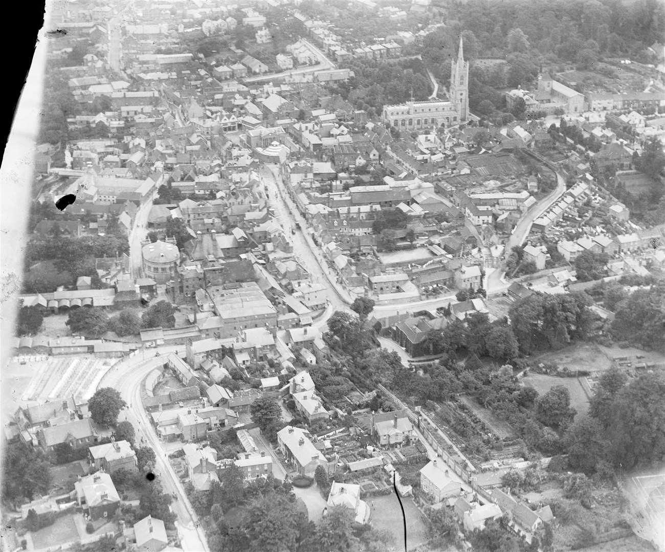 Bishop's Stortford town centre in 1920 Credit: Historic England