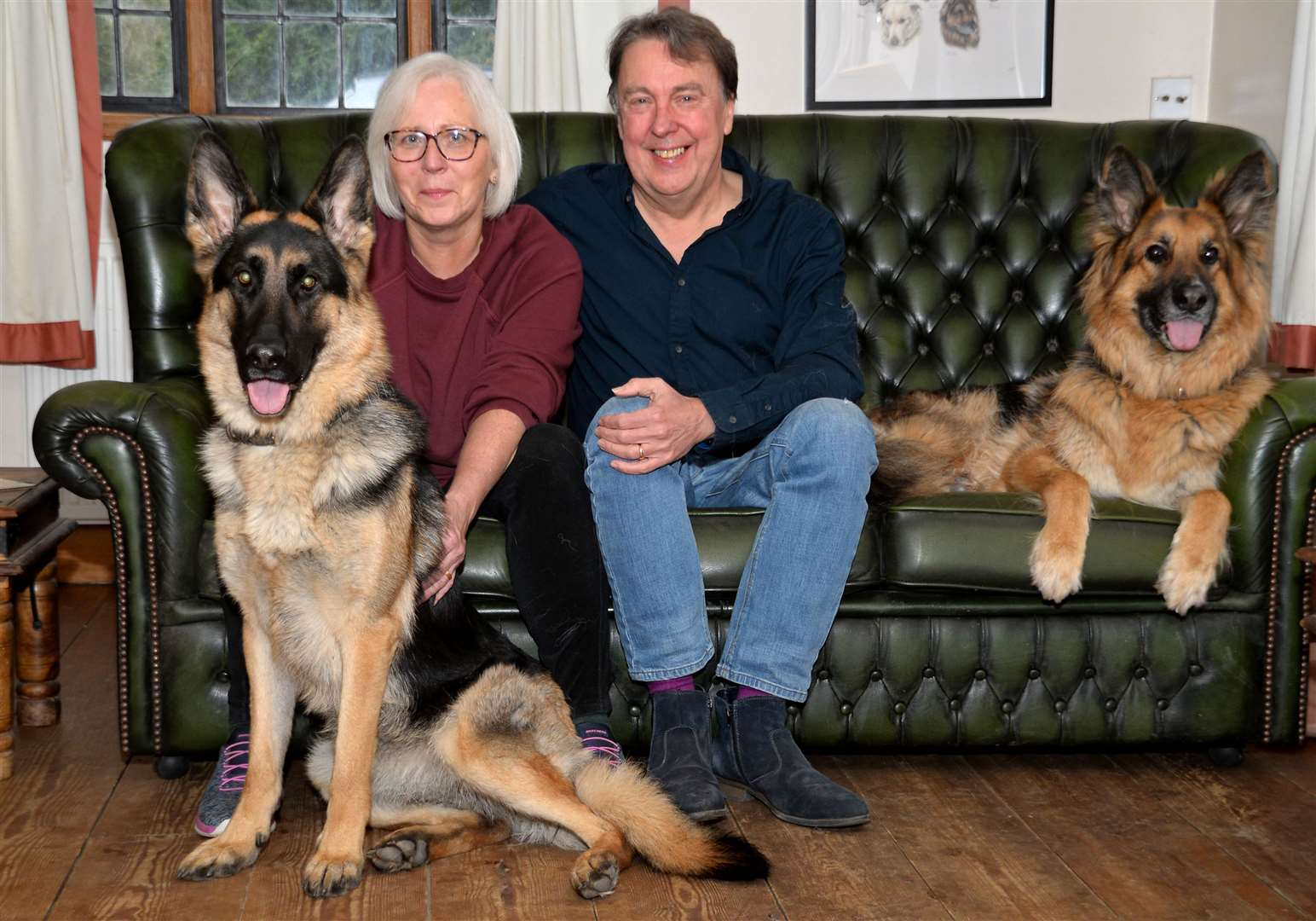 Great Hallingbury. Carl and Val Waring with dogs Ellie and Freddie. Pic: Vikki Lince (28863041)