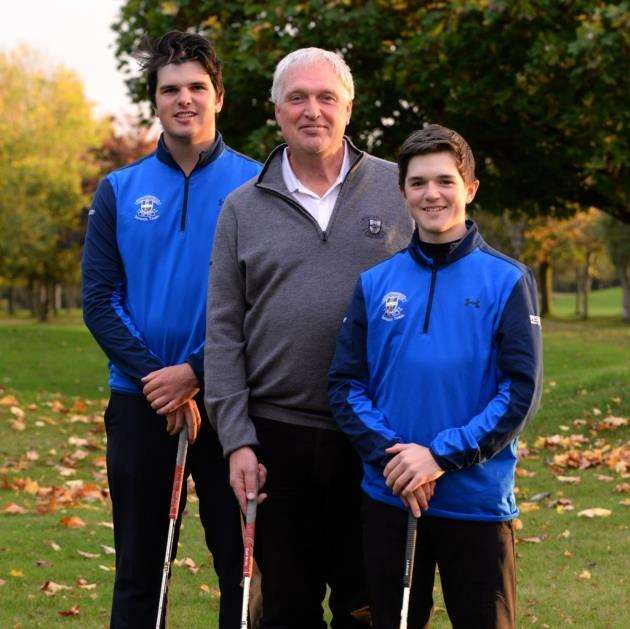 While Bishops Stortford Golf Club member and Hockerill teacher Pete Hopkins plays off 8, son Jon, 18, plays off scratch and Max, 14, is off +1 Picture: Vikki Lince