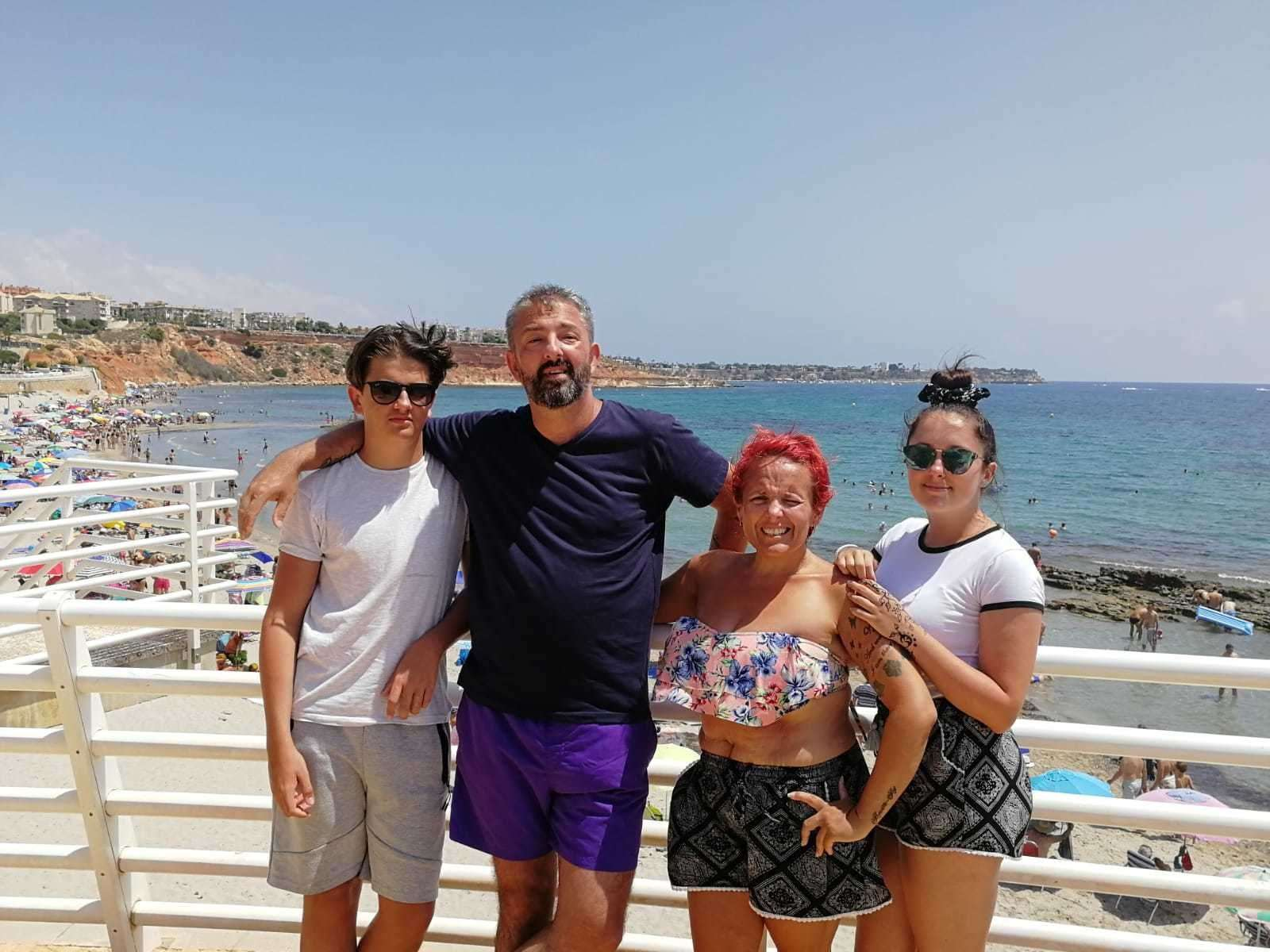 The Morris family on holiday – son Daniel, 17, dad Tony, mum Collette and daughter Lainnie, 19