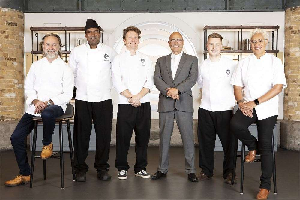 Masterchef: The Professionals judges and contestants Santosh Shah, Bart van der Lee and Alex Webb (43625675)