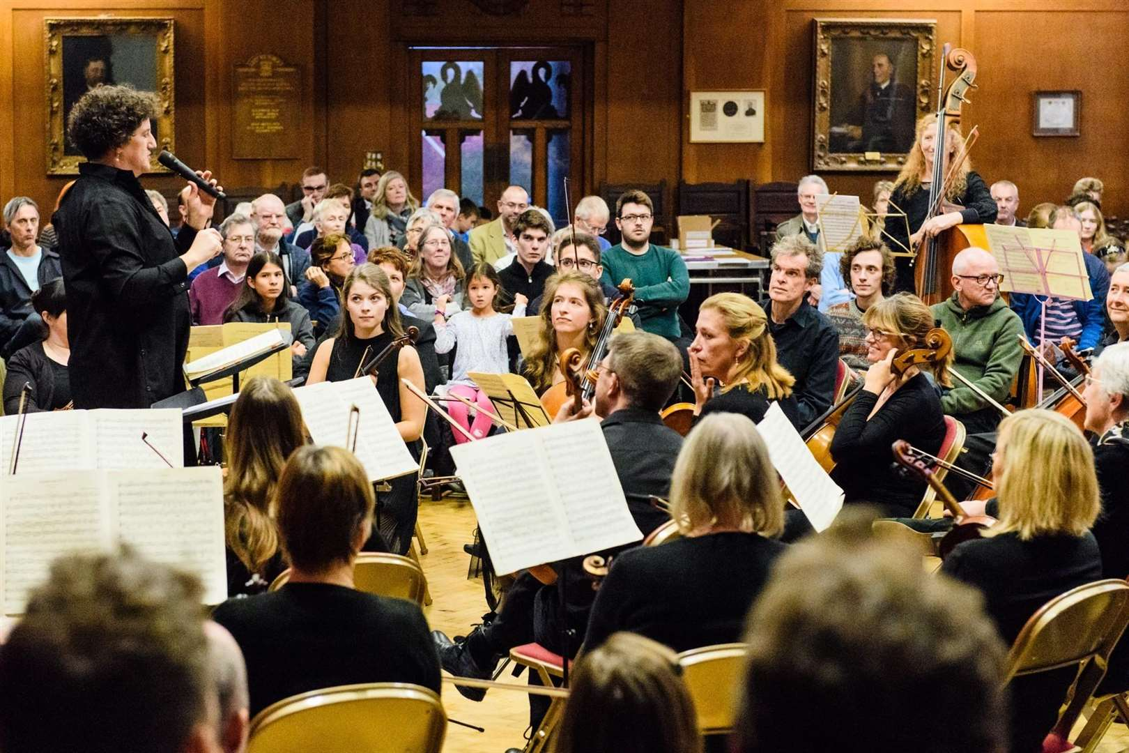 Rebecca Miller conducting Bishop's Stortford Sinfonia at its previous Inside the Orchestra performance at Bishop's Stortford College in November 2017 (6448454)