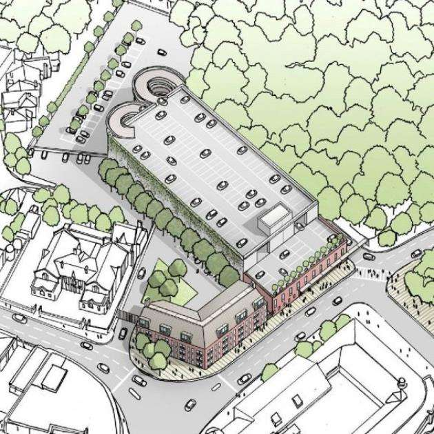 The Northgate End multi-storey car park plan