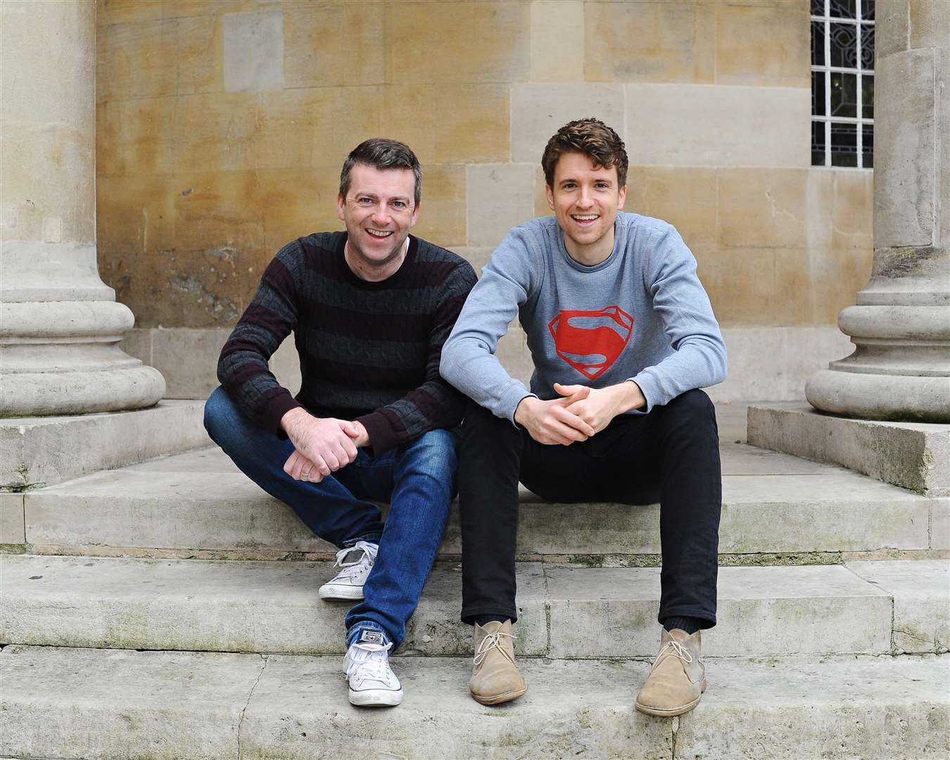 Greg James with his Kid Normal co-author Chris Smith Picture: Jenny Smith