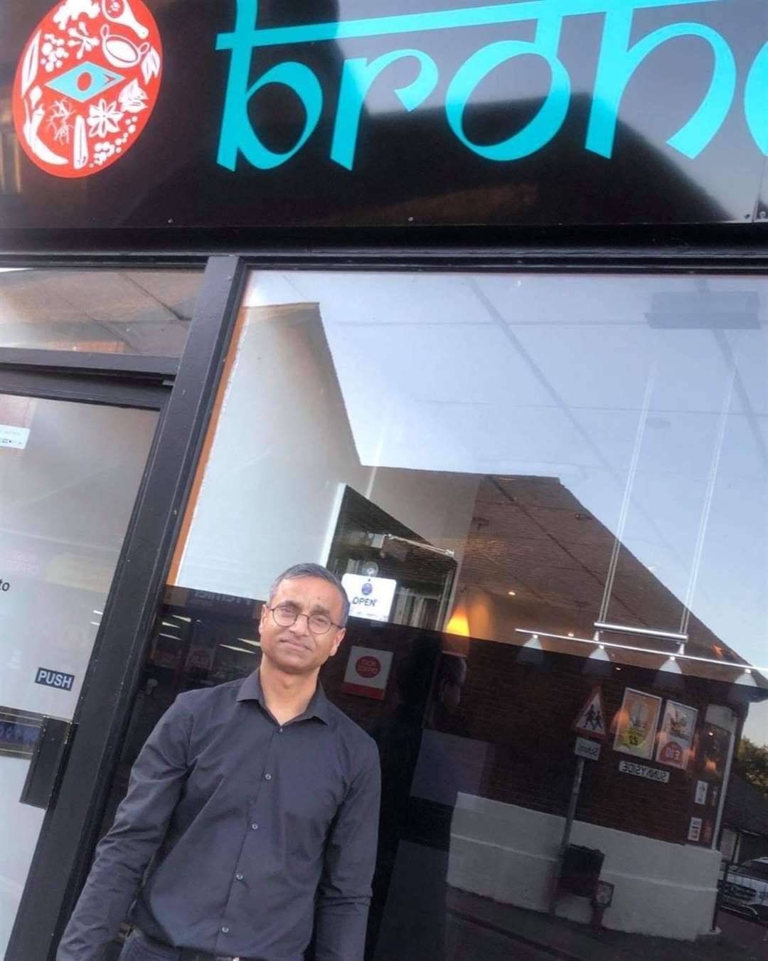 Karim Ullah outside his restaurant, Brohmon, in Stansted (43870809)