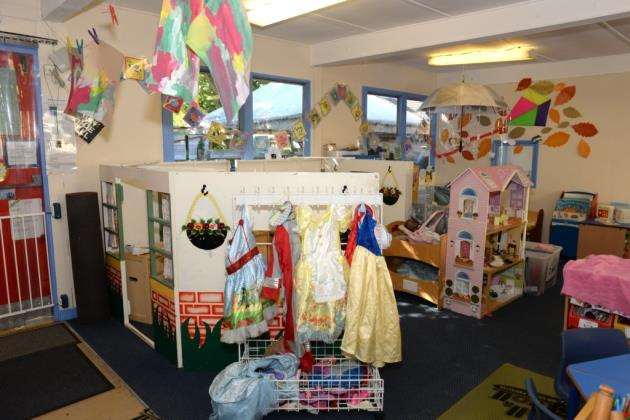 Blues Pre-School, Bishops Stortford. Pre-school celebrating anniversary. Dress up and play area. Pic: Vikki Lince