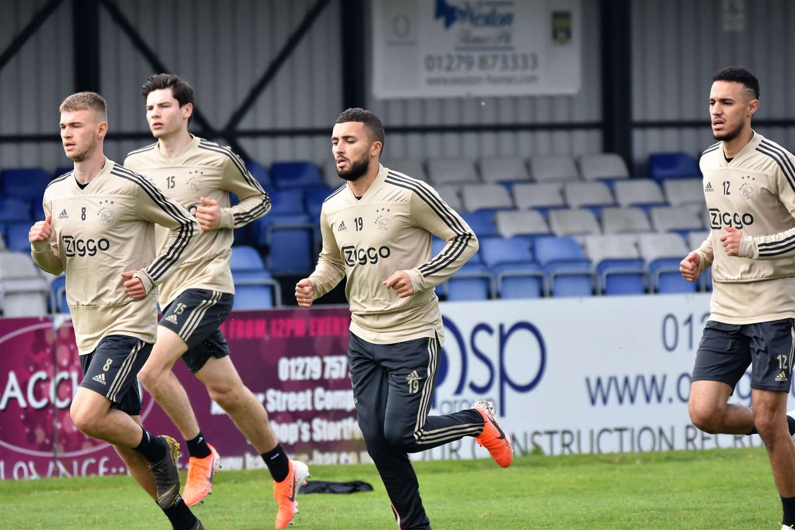 Ajax training at Bishop's Stortford FC. Credit: Nathan Cracknell (9526789)