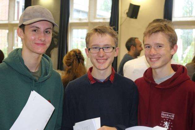 Staff and students celebrate GCSE success at Hockerill Anglo-European College